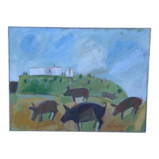 Jim Wagner Pig Party Painting For Sale
