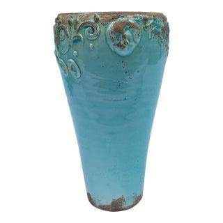 Vintage Italian Turquoise Vase