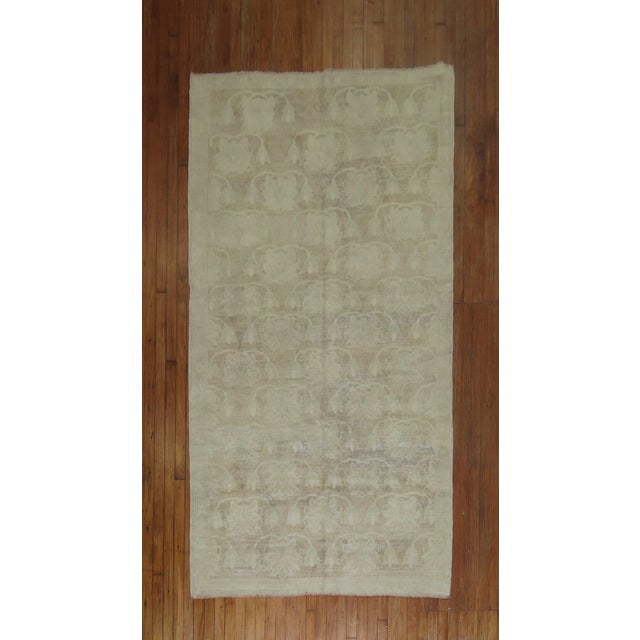 Pale Colored hand-made one of a kind intermediate size turkish konya one of a kind rug. circa mid 20th-century. Personally...