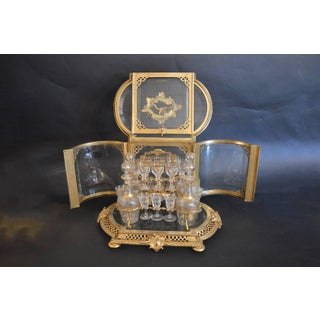 19th Century Bronze and Baccarat Crystal Tantalus Preview