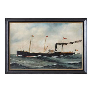 Steamship Willy Alexander by Alfred Jensen, 1909 For Sale