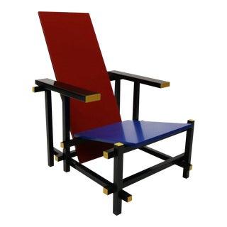 1918's Gerrit Rietveld Mid-Century Modern Wood Chair