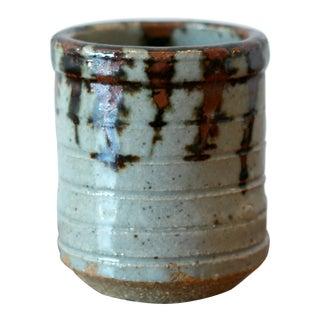 Multicolored Drip Glaze Ceramic Stoneaware Vessel