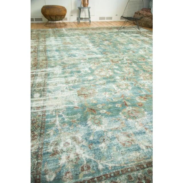 """Blue Vintage Kerman Carpet - 9'9"""" x 13'2"""" For Sale - Image 8 of 10"""