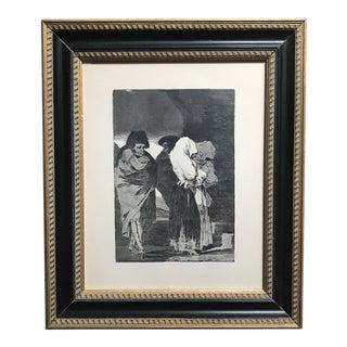 Framed Etching - Francisco De Goya For Sale