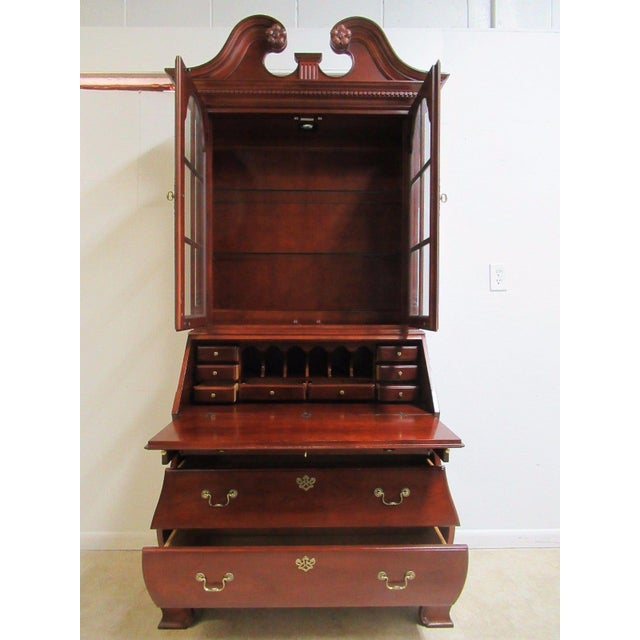 Brown Thomasville Bombay Cherry Drop Front Secretary Writing Desk For Sale - Image 8 of 10