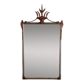 1920s French Wall Mirror With Painted Wood Frame For Sale
