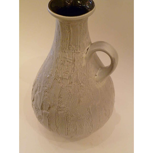 Large 50s Clemens & Huhn Textured German Pottery Mid Century Modern Krug Floor Vase - Image 4 of 9