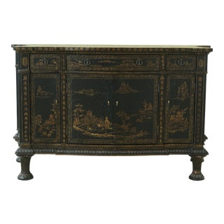 Chinoiserie Decorated Oversized Commode Server Chest For Sale