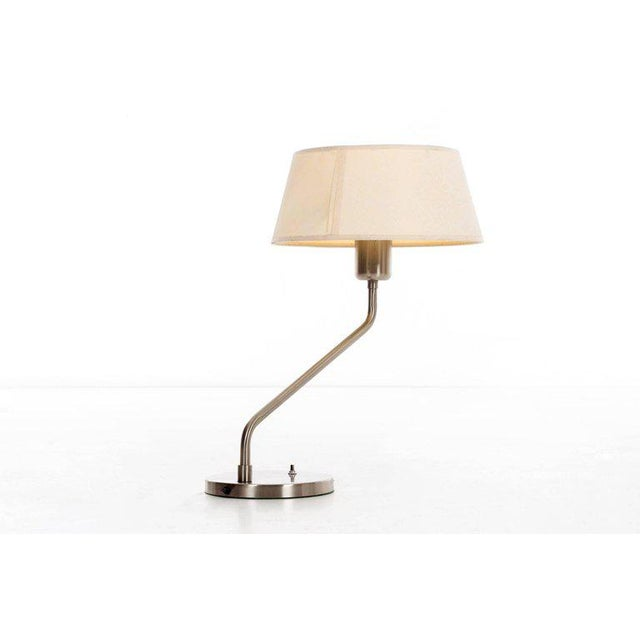 Mid-Century Modern Vintage 1960s Walter Von Nessen Table Lamp With Shade For Sale - Image 3 of 9