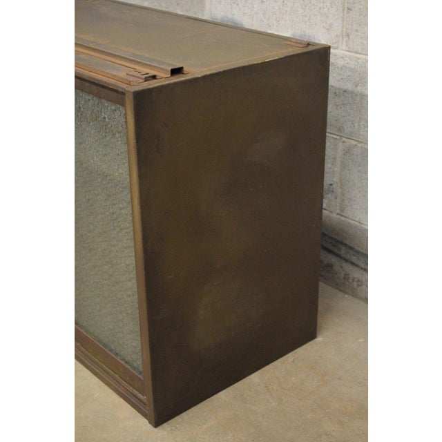 Glass 20th Century Industrial Remington Rand Green Steel Metal Stacking Barrister Storage Cabinet For Sale - Image 7 of 13
