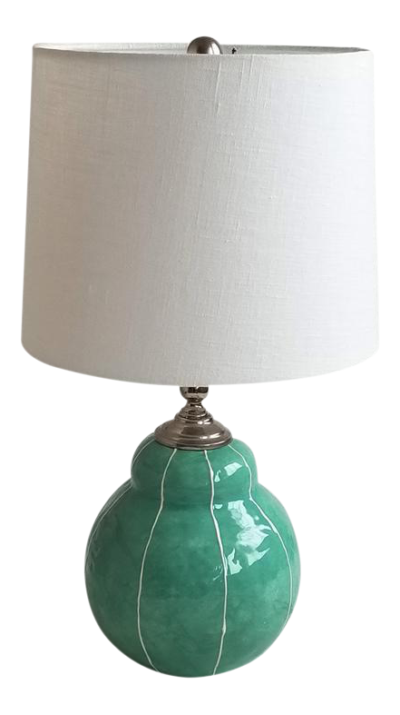 Small Handmade Ceramic Table Lamp Chairish