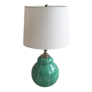 Small Handmade Ceramic Table Lamp For Sale