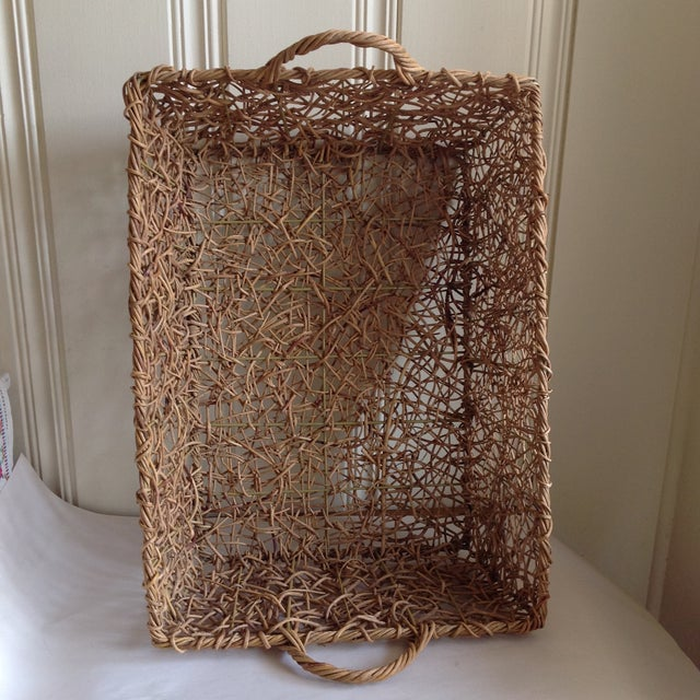 Natural Woven Twig Basket - Image 6 of 8