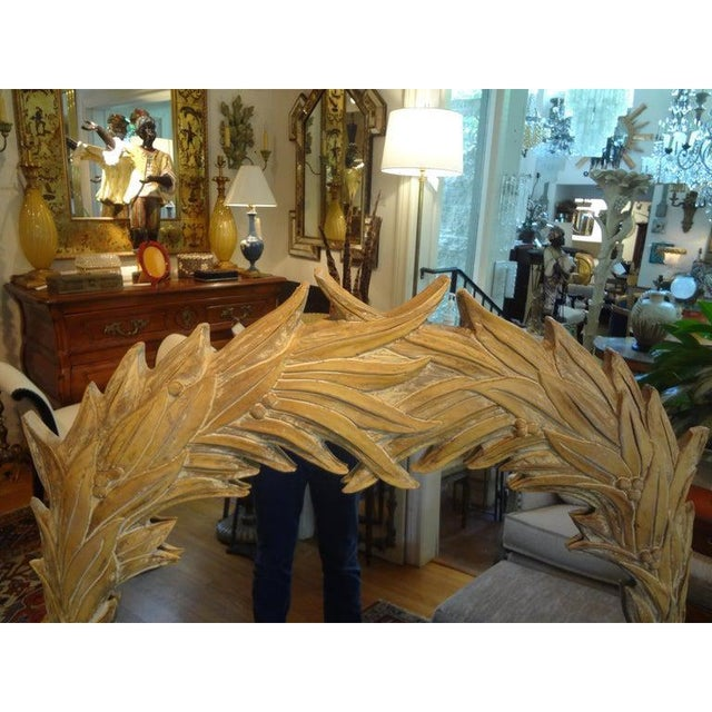 1970s Vintage Dorothy Draper Style Palm Frond Mirror For Sale - Image 5 of 12
