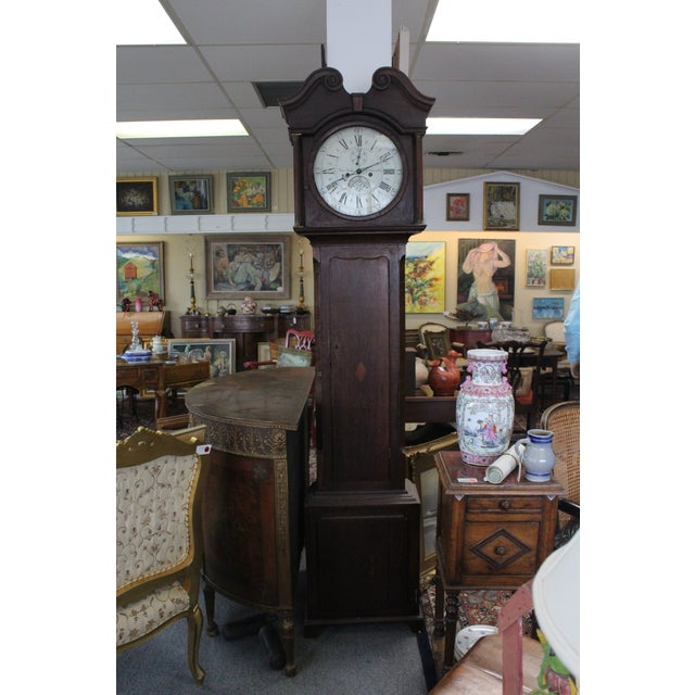 Oak Pace Jones Mommouth Grandfather Clock For Sale - Image 7 of 8