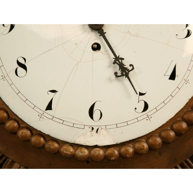 French French Sunburst Clock with Porcelain Face For Sale - Image 3 of 11