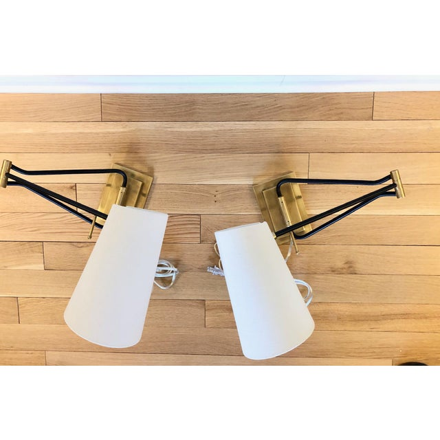 New and modern classic pair of sconces by Circa Lighting designed by Aerin. It great condition, never used.
