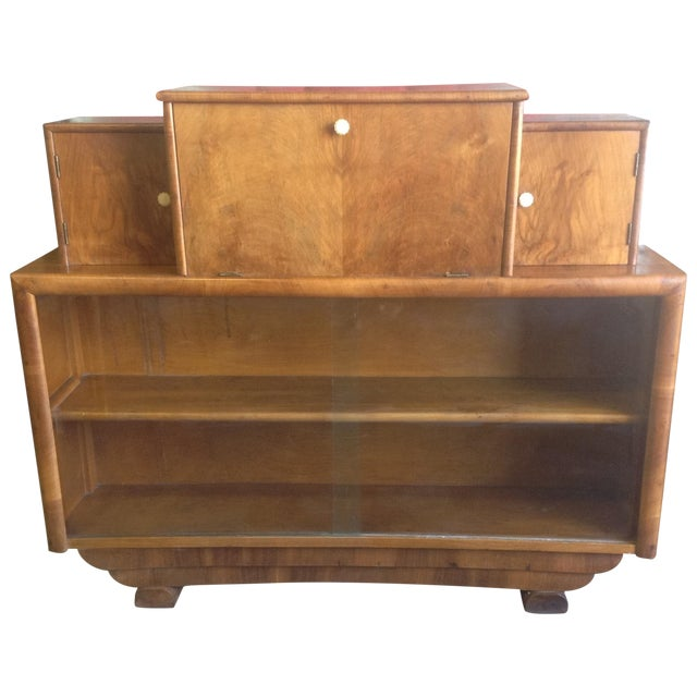 Art Deco Style Wooden Bar Cabinet - Image 1 of 11