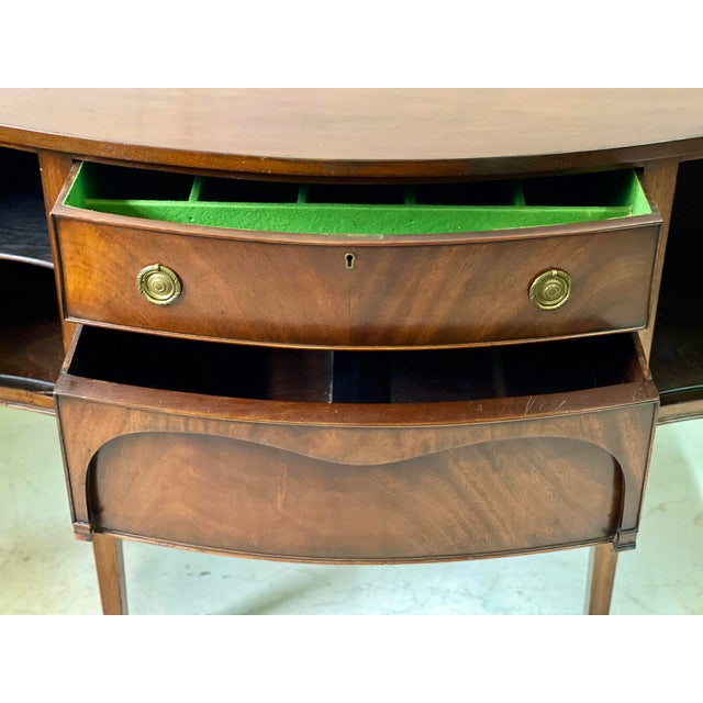 English George III Style Sideboard of Mahogany For Sale - Image 10 of 13