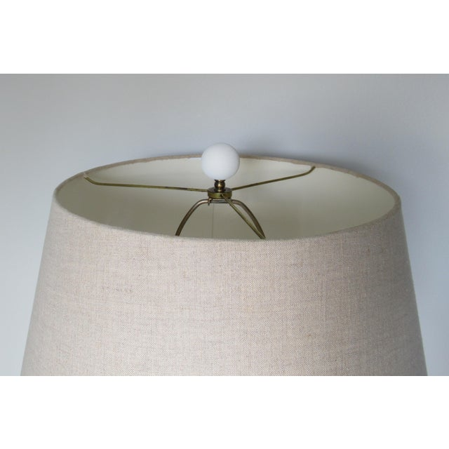 John Dickinson-Style Draped Plaster Rope Cinched Lamp For Sale - Image 10 of 13