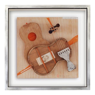 """""""Clara"""" Contemporary Mixed-Media Still Life Ukulele Assemblage by Poul Lange, Framed For Sale"""