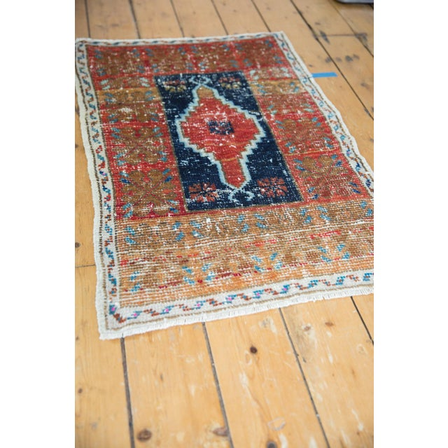 """Vintage Distressed Oushak Rug - 2'2"""" X 3'3"""" For Sale In New York - Image 6 of 8"""