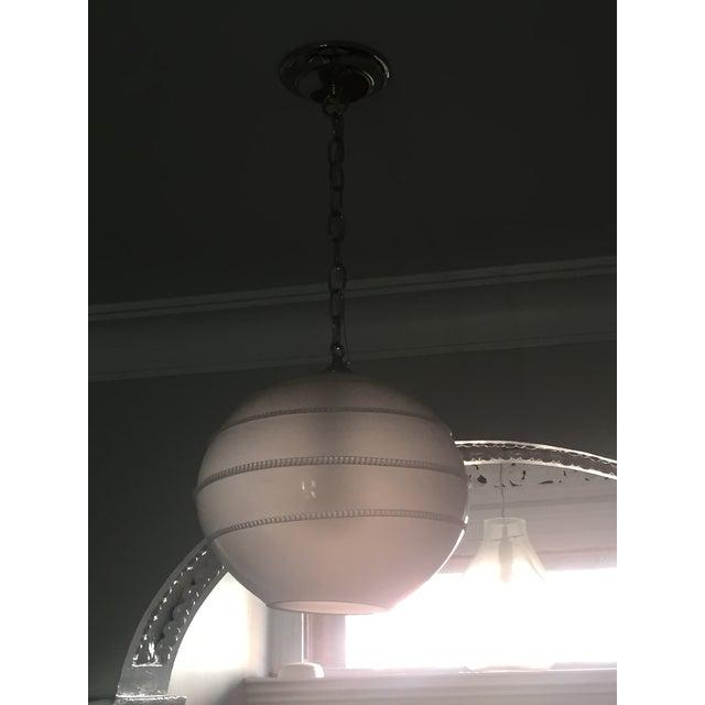 Juliska Amalia Frosted Globe Pendant Light - Image 5 of 6