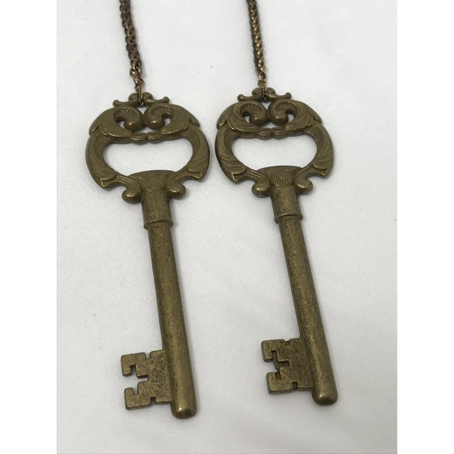 Ornate Brass Keys - a Pair For Sale In West Palm - Image 6 of 8