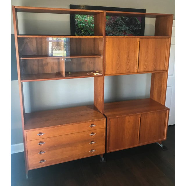 Contemporary Hans Wegner for Ry Møbler Mid Century Danish Wall Unit For Sale - Image 3 of 8