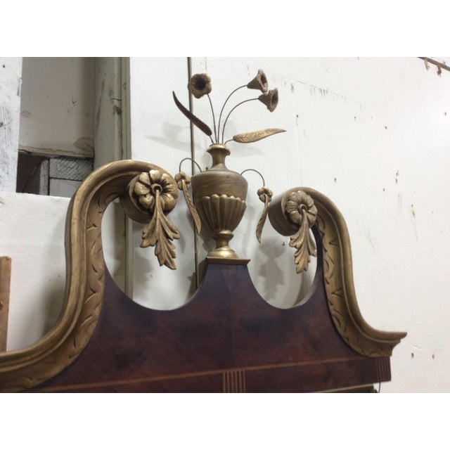 1910s Hepplewhite Style Looking Glass Mirror With Inlay For Sale - Image 5 of 6