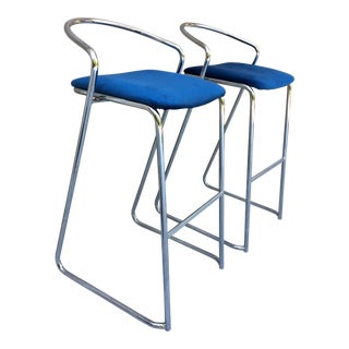1970s Vintage Lowenstein Barstools - a Pair For Sale