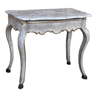 19th Century Swedish Painted Marble Top Console For Sale