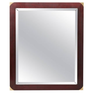 Walnut Campaign Mirror For Sale