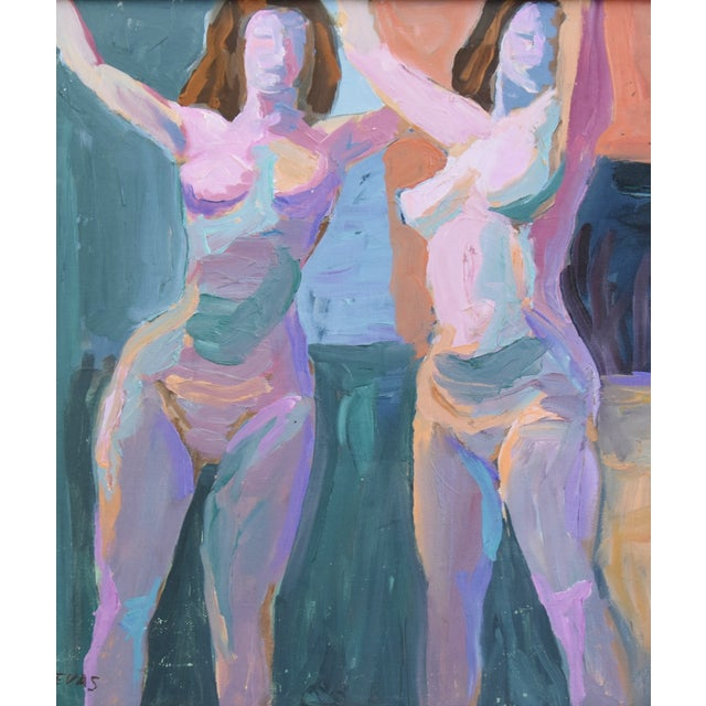 Black Modern Ray Cuevas, Plein Air Oil Painting Female Nudes For Sale - Image 8 of 10