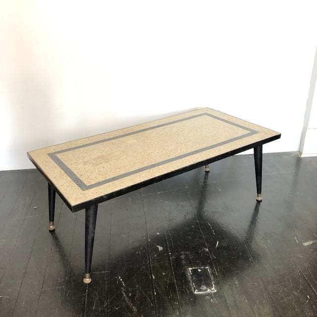 1950s Mid Century Modern Terrazzo Coffee Table For Sale - Image 4 of 5
