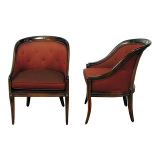 Pair of Regency Style Club Chairs For Sale
