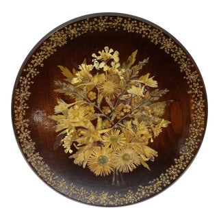 Vintage Wood Botanical Display Plate