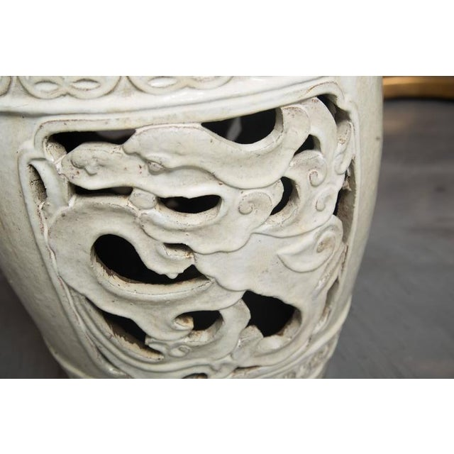 White Glazed Chinese Garden Seats - Image 8 of 10
