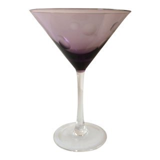 One Marquis By Waterford Purple Crystal Martini Glass