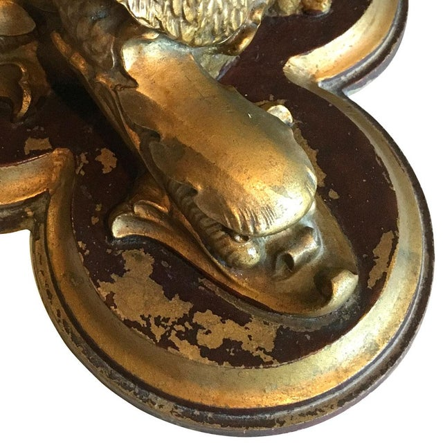 Gilded Chinoiserie Dophin Trio Lamp - Image 5 of 7