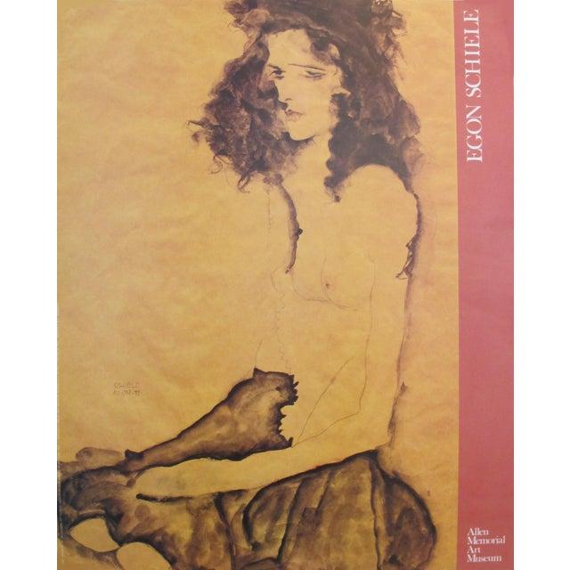 1989 Egon Schiele American Exhibition Poster - Image 1 of 4