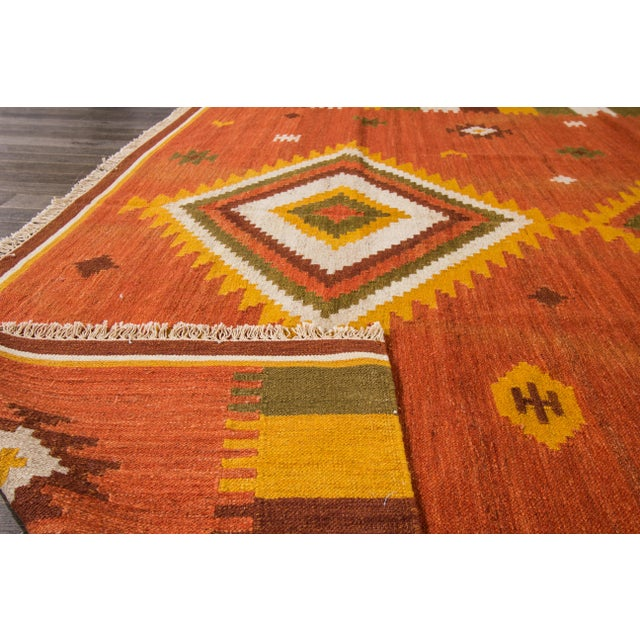 "Modern Apadana - Modern Kilim Rug, 8'7"" x 9'9"" For Sale - Image 3 of 7"