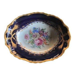 Limoges Pate Dish With Brass Stand