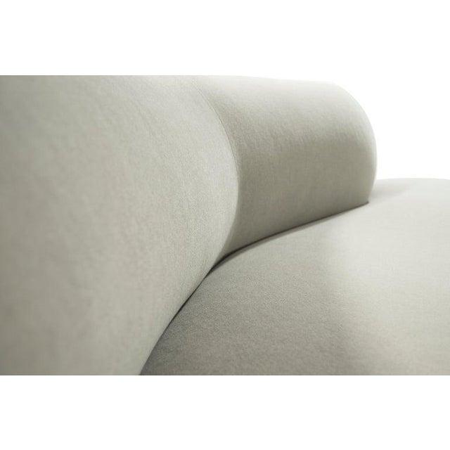 Curved Sofa in Alpaca Velvet by Vladimir Kagan For Sale - Image 11 of 13