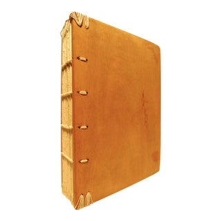 2010s Hand-Made Coptic Quarto Book Traditionally Bound Journal by M. Allen For Sale
