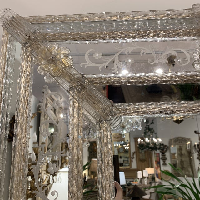 Vintage Murano Mirror For Sale - Image 9 of 13