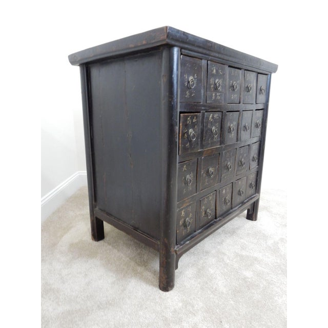 Elm Antique Chinese Elmwood Apothecary Cabinet For Sale - Image 7 of 11