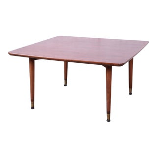 Swedish Modern Walnut Coffee Table Attributed to Folke Ohlsson for Dux For Sale