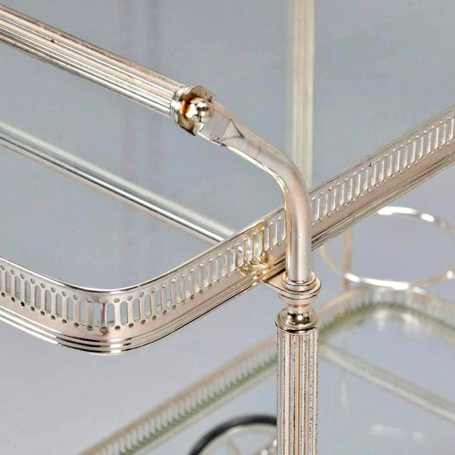 Mid-Century Nickel Plated Bar Cart or Drink Trolley - Image 8 of 8